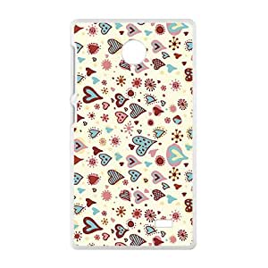 Cartoon Love Heart Sweet Phone Case for Nokia Lumia X