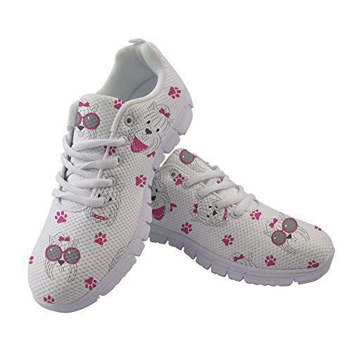 Walking Nurse Coloranimal Running Terrier Women 4 Summer Sneakers Flats Spring Yorkshire qqBwY
