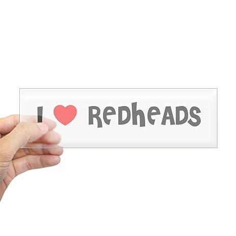 Cafepress i love redheads bumper sticker 10x3 rectangle bumper sticker car
