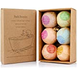 Bath Bombs Gift Set Hand Made Organic Natural Large Luxurious Vegan Fizzies, Lush Fragrant Essential Oils, Women And Kids Relaxing Epsom Salt Luxury Spa Soak (6 Pack Kit)