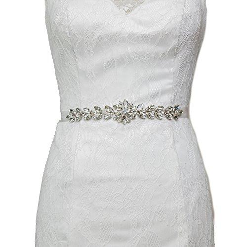 Bridal Women's Sash Belt Brown Belt Wedding Crystals ULAPAN S69 Sash Rhinestones Dress 7x0nq18