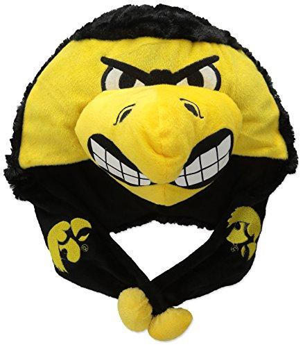 [NCAA Iowa Hawkeyes Thematic Mascot Dangle Hat] (Iowa Hawkeye Mascot Costume)