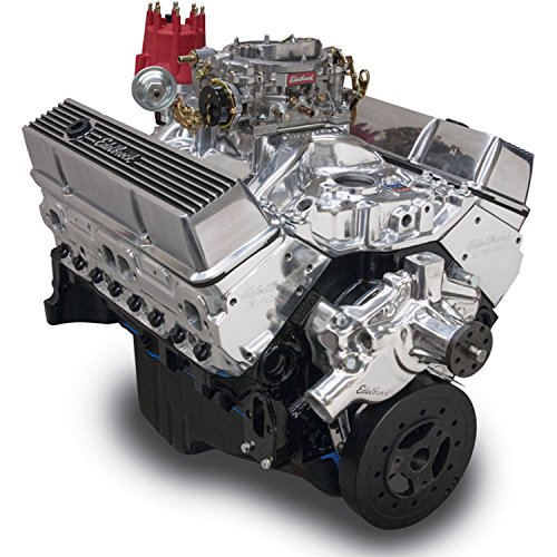 Edelbrock Crate Engine Performer - Edelbrock 46411 Performer 363 Hi-Torq Crate Engine 9.0:1 Compression 353HP/405Torque PerformerEPSVortecManifold/750 CFM Performer Series Carb Elec.Choke w/Short WaterPump PN[8810] Polished Performer 363 Hi-Torq Crate Engine