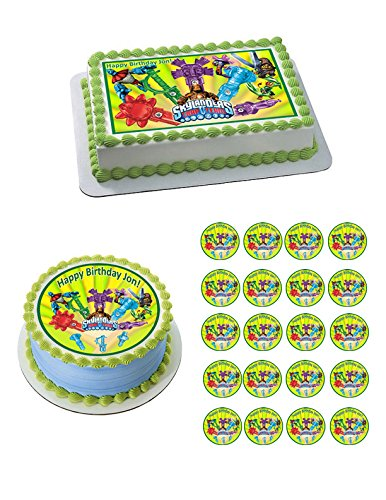 Skylanders Trap Team 2 Edible Cake OR Cupcake Topper - 3.25' cupcake (6 peaces/sheet) inches