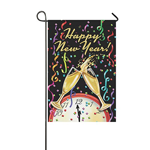llyaon.iao- Happy New Year Garden Flag & Best for Party Yard and outdoor home decor12x18in -