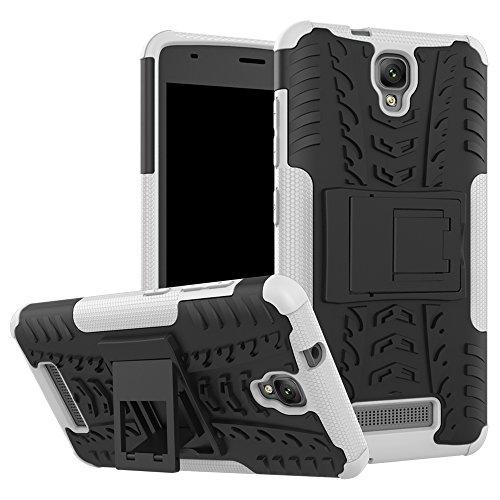 OFU®Para ZTE Blade L5 5.0 Smartphone, Híbrido caja de la armadura para el teléfono ZTE Blade L5 5.0 resistente a prueba de golpes contra la lucha de viaje accesorios esenciales del teléfono-azul blanco