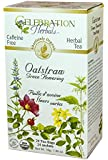 24 : Celebration Herbals Organic Oatstraw Green Flowering Tea Caffeine Free -- 24 Tea Bags