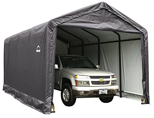 - ShelterLogic ShelterTUBE Storage Shelter, Grey, 12 x 20 x 11 ft.