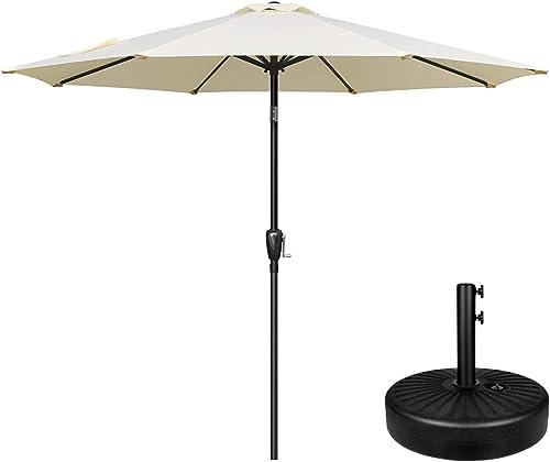Simple Deluxe LGBRLA9BGEBASERV1 9ft Market Table Patio Umbrella