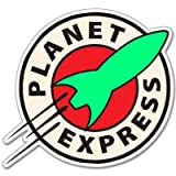 #10: Futurama Planet Express Vynil Car Sticker Decal - 5