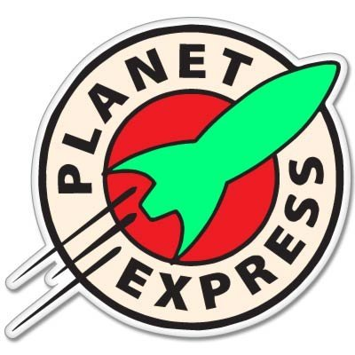 Futurama Planet Express Vynil Car Sticker Decal - 5'' by Sticky Pig (Image #1)