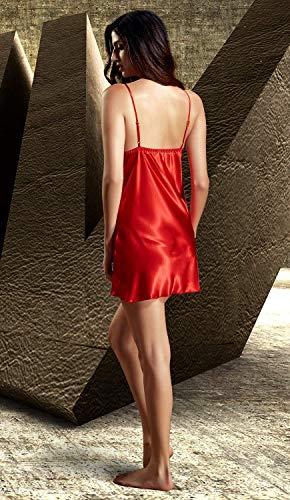 Camisón Moda Cómodo Pijama Otoño Rot 1 Las Negligee Señoras Primavera Elegante Vintage De Suave 0xwrpq0