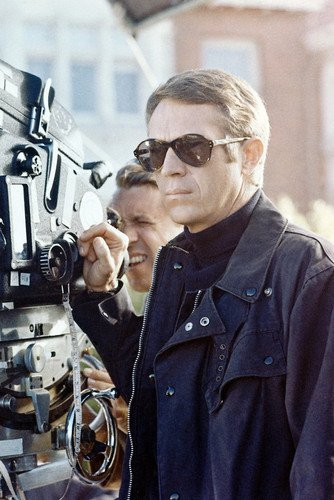 Steve McQueen in Bullitt 11x17 Mini Poster with sunglasses