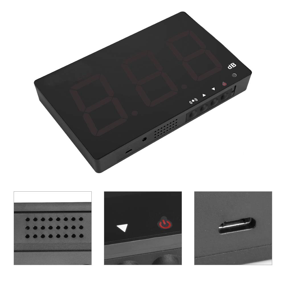Cafopgrill Medidor de Nivel de Sonido Digital LCD de 9.6 medidor de Ruido montado en la Pared Probador Rango de medici/ón 30-130dB Probador de Ruido Alimentado por USB