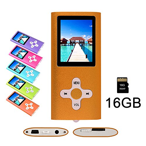 RHDTShop Fashion Portable MP3 MP4 Player,SD Card Slot,Digital Music Video Media Player,Volume Control, USB 2.0 Cable, with a 16GB Micro SD (Mp3 Mp4 Video Game)