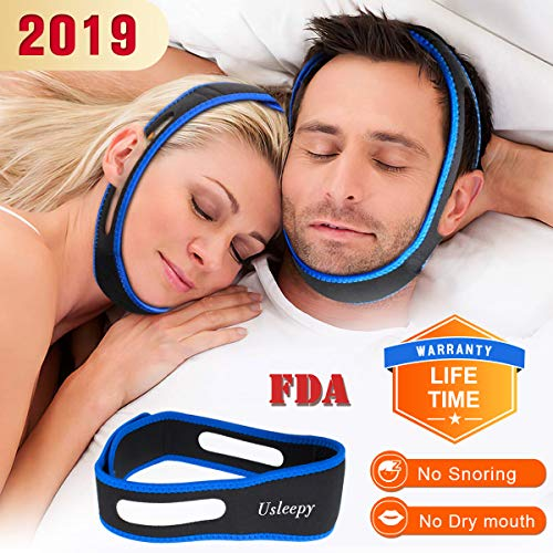 Anti Snoring Chin Strap, Comfortable Natural Snoring Solution Snore Stopper, Most Effective Anti Snoring Devices Stop Snoring Sleep Aid Snore Reducing Aids for Men and Women