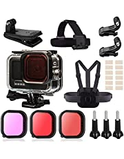 Kaliwery Waterproof Housing case for Gopro Hero 10 Gopro Hero 9 Compatible Black 60M/196FT Action Camera Accessory Kit Underwater Photography Products Diving Shell with Bracket Mount Accessories