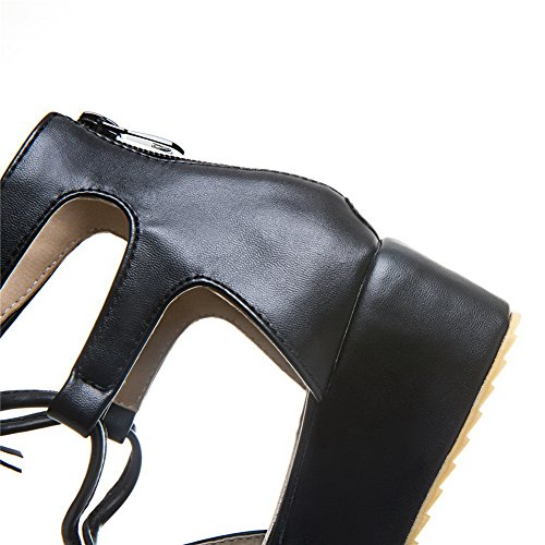 1TO9, Plateforme Femme - Noir - Noir, 36.5