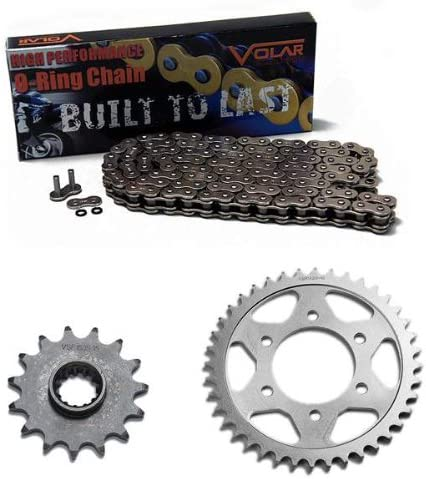 Nickel for 2005-2008 Kawasaki ZZR600 Volar O-Ring Chain and Sprocket Kit