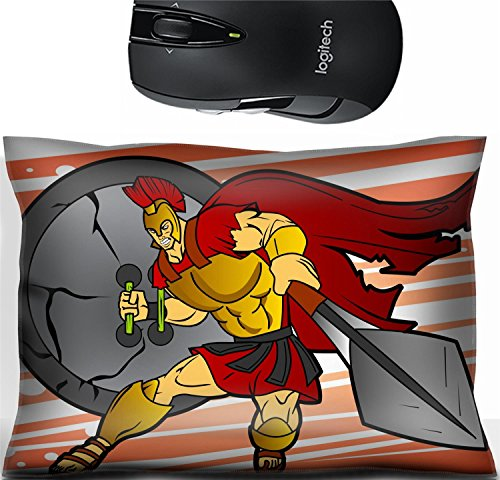 Liili Mouse Wrist Rest Office Decor Wrist Supporter Pillow This heroic Spartan warrior is ready to go to battle Photo 20294275