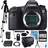 Canon EOS 6D Body Only Deluxe package for Professional Photography - Full Size Pro Tripod, High Speed Memory Card with 1080p Support, Camera Case, Wireless Remote and much more