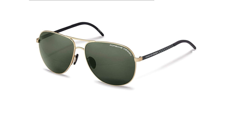 e3d760f97cc Amazon.com  Authentic Porsche Design P 8651 B Gold Polarized Sunglasses   Clothing