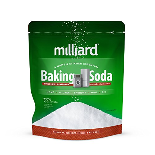 Milliard 5lbs Baking Soda/Sodium Bicarbonate USP - 5 Pound Bulk Resealable Bag