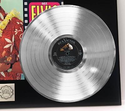 "Elvis Presley ""Blue Hawaii"" Platinum LP Record LTD Edition Award Style Collectible Display"