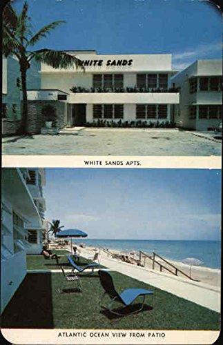 (White Sands Apartments Miami Beach, Florida Original Vintage Postcard)