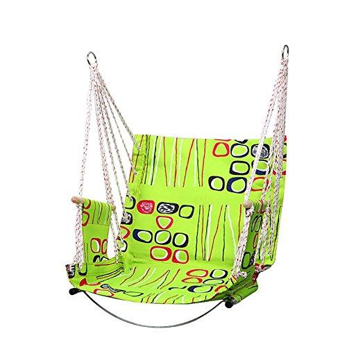 Patio Terrace Indoor Outdoor Garden Swing Hanging Chair Hammock Swing Garden Chair Hangmat Furniture , green