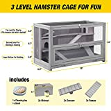 Aivituvin Upgraded 3 Tier Hamster Cage with Chewing