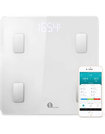 1 BY ONE Wireless Smart Scale, Báscula Corporal Digital inalámbrica con App para Android e
