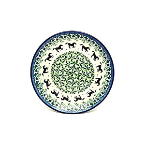 Polish Pottery Plate – Salad/Dessert (7 3/4″) – Dark Horse