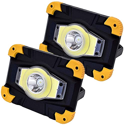 DUCCM 10W LED FloodLight, wiederaufladbares USB-Arbeitslicht, tragbares Campinglicht, wasserdichter IP65-Baustrahler, 4…