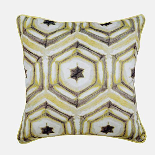 The HomeCentric Funda de Almohada Decorativa Mostaza Batik ...
