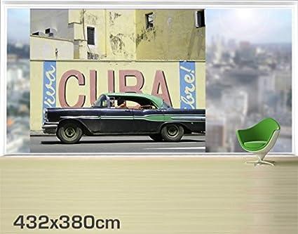 Apalis XXL Mural de Ventana Show Me Cuba, Dimensione:380cm x 432cm ...