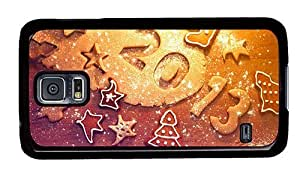 Hipster Samsung Galaxy S5 Case carrying cases New Year Cookies PC Black for Samsung S5 by ruishername