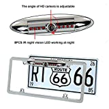Auto Safety Universal Car License Plate Frame Mount Rear View Backup Camera, Parking/Reverse Assistance, 170 Degree Wide Angle with 8 IR LED Night Vision Waterproof(Silver) Review