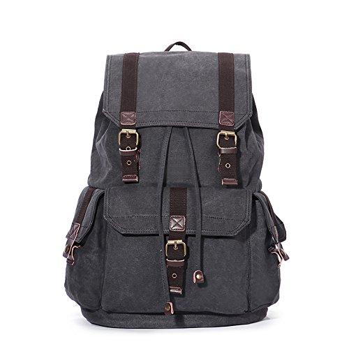 schwarz grau Männer Schultertasche koreanische Edition Canvas Tasche Mode Reisen Sport Paket, schwarz Grau