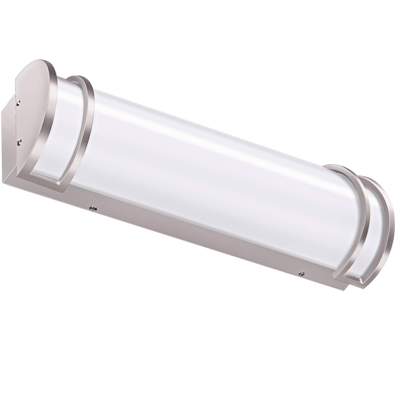 Hykolity 24 inch 25W Integrated LED Vanity Light, Dimmable Bathroom Light Fixtures Brush Nickel (120 watt Equivalent) ETL Listed by hykolity