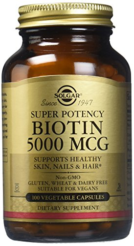 Solgar Biotin 5000 Vegetable Capsules product image