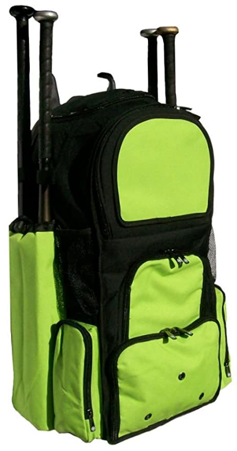 Black and Lime Green Chita II (L) Adult Softball Baseball Bat Equipment  Backpack 24ee0469b601a