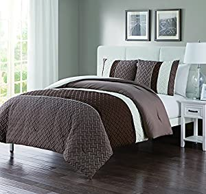 VCNY Home Edgemont 3 Pc Comforter and Pillow Shams Set, KING 104