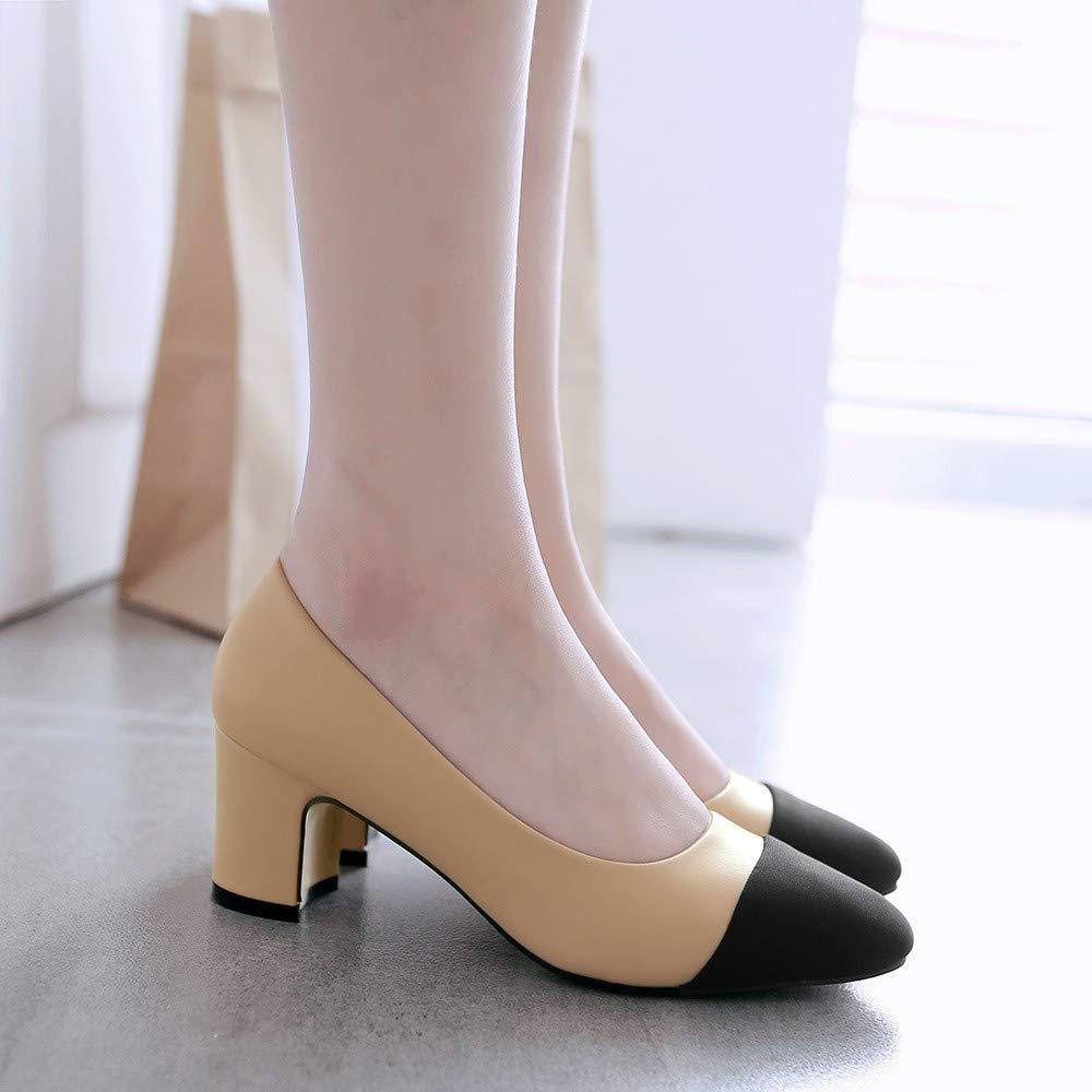 XL_nsxiezi Frauen farblich farblich farblich abgestimmte Absatzschuhe mit hohem Absatz B07Q8XZX3Y Sport- & Outdoorschuhe Neuer Markt d872ca
