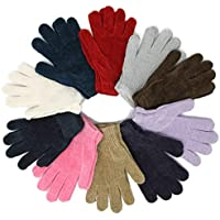 Wholesale Knit Magic Gloves One-Size Fits Most Adults Teenagers Black Assorted 12 Pairs 1 Dozen