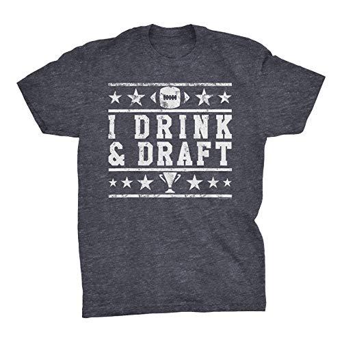 Fantasy Football Shirt - I Drink and Draft - Dk. Heather-XL