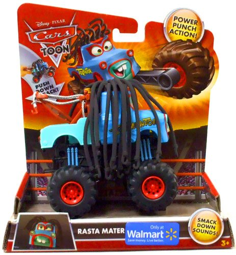 Amazon Com Disney Pixar Cars Toon Exclusive Monster Truck Rasta