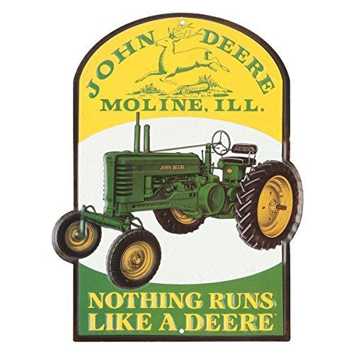 Open Road Brands John Deere Nothing Runs Like A Deere Metal Sign