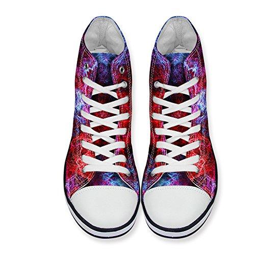Galaxy Lace Sneaker Fashion High Women's Canvas Shoes DESIGNS Top 1 up Print FOR Stylish U Multi watqYt