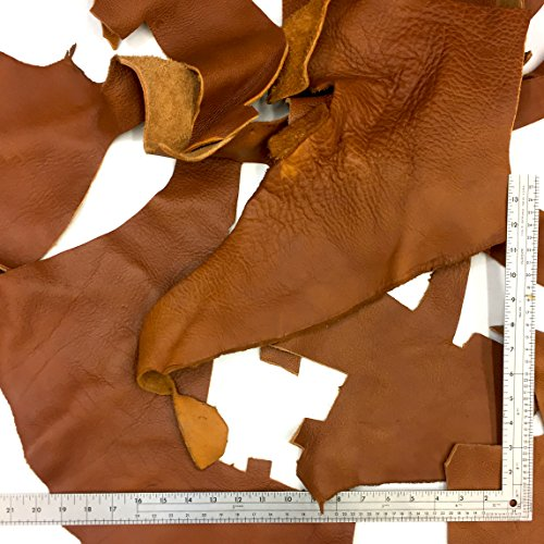 Milled Cowhide (SLC's Oak Tan Heavy Weight Milled Leather Scrap, 5lbs)
